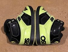 Osiris NYC 83 CLK Size 5 US Men's Lime Black Lime BMX DC Skate Shoes Sneakers