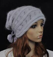 fa01e63ae72 M27 caliente y suave de imitación de piel de conejo Acrílico Sombrero del  invierno esquí Beanie searover Tapa Gris