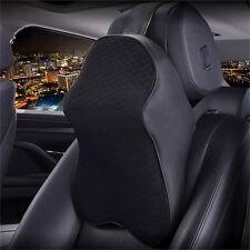 Car Seat Headrest Pad Memory Foam Black Pillow Head Neck Rest Support Cushion