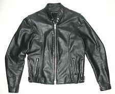 Black Leather Cafe Racer Men's Motorcycle Biker Jacket Sz 40