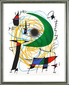 Joan Miro, Original Lithogr., ORIGINAL Graphic, (Grüner Mond / Green Moon), 1972