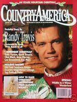 RANDY TRAVIS  1/92 Country America Magazine