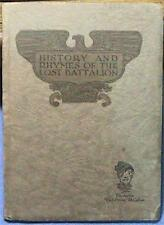 """1928 """"History and Rhymes of the Lost Battalion"""" Us Army"""