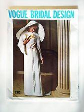 Vtg MCM 1970 #2315 Vogue sewing pattern Wedding Gown Bridal Design Sz 16