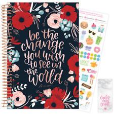 2021 Arouet Calendar Year Daily Planner Agenda 12 Month January - December bloom