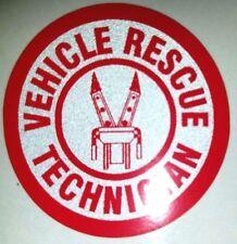 "VEHICLE RESCUE TECHNICIAN 1.75"" STICKER FOR FIRE HELMET"