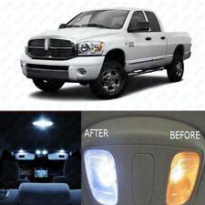For 2006-2008 Dodge RAM 1500 2500 3500 White Interior LED Light Kit Package