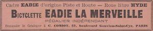 V6867 Bicyclette Eadie The Merveille - 1902 Vintage Advertising - Advertising