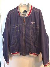 Vintage Henry Choice Jean Look Jacket - Bomber Coat - Blue Zippered - Size Med