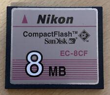 Nikon 8mb CF COMPACT FLASH CARD EC-8CF - ottime condizioni