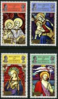 GUERNSEY 1972 RSW / CHRISTMAS CHURCHES SET OF ALL 4 COMMEMORATIVE STAMPS MNH (d)