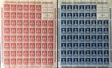 1949 Repubblica Volta 2 val nuovi fogli completi splendidi con blocco angolare