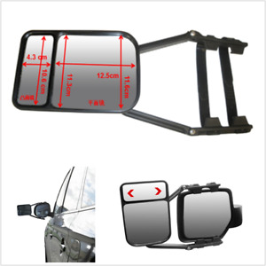 Car SUV Truck Adjustable Clip-on Trailer Towing Side Mirror Extender Extension