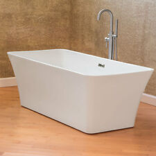 Freestanding bathtubs ebay for Woodbridge 54 modern bathroom freestanding bathtub