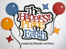Disney Happiest Place title paper piecing Premade Scrapbook Pages by Rhonda