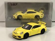 Minichamps 870067321 Porsche 911 GT3 2017 Yellow 1:87 Scale