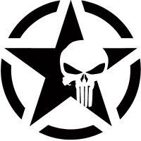 The Punisher Skull Decal | Vinyl Sticker Motorcycle Car Truck Star *Many Sizes*