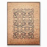 """8'11"""" x 11'5"""" Hand Knotted 100% Wool Sultanabad Oriental Area Rug Black Gold"""
