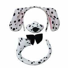 Dalmation ears nose and tail set for kids spotty dog or adults