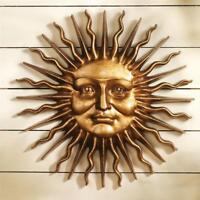 Sloane Square Sun Antique Bronze Greenman Design Toscano Garden Wall Sculpture