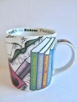 Classic Books Novel-Tea Coffee Mug 2011 Paul Cardew Shakespeare Wells Twain