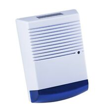 Dummy Burglar Alarm Box - Solar Powered - Dummy Alarm Siren Blue Flashing LED