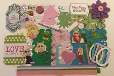 Miss Piggy and Kermit Muppets Chipboard Mini Book Album DIY Kit Scrapbooking