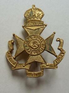 The King's Royal Rifles Sweetheart Brooch Badge Pin, King's Crown