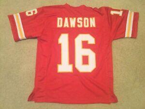 UNSIGNED CUSTOM Sewn Stitched Len Dawson Red Jersey - M, L, XL, 2XL, 3XL