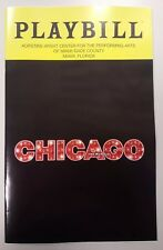 Chicago The Musical Playbill - Broadway in Miami Shows (Brand New) May 2018