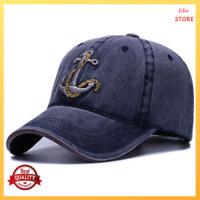 Baseball Cap Hat Women Men Washed Soft Cotton Vintage Dad Hats Anchor Style Caps