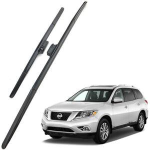 Genuine OEM Set Front Windshield Wiper Blades For 2013-2020 Nissan Pathfinder