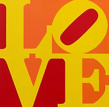 "Robert Indiana       ""Love (Red Yellow Orange)""    1996   Screenprint"