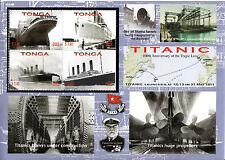 Tonga 2012 MNH Titanic 100th Anniv 4v M/S Ships Boats Edward Smith Stamps