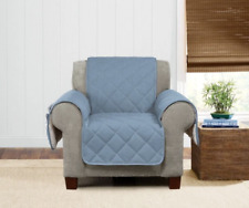 Denim & Sherpa Chair Furniture Cover cotton poly Pet Cover washable chambray