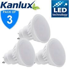3x Kanlux 9W 900 Lumen GU10 LED Light Bulb Downlight Lamp 6000K Daylight White