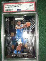 2019 Panini Prizm DP Zion Williamson RC Rookie Base Prizm #64 PSA 9 MINT