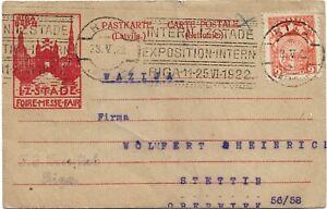 Latvia 1922, Riga Fair formula card 1922, RIGA 28.V.22.