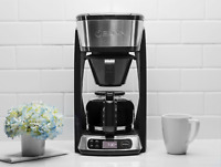 Kitchen Heat N Brew Coffee Maker Drip Free Carafe Programmable Digital Clock