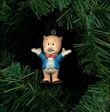 Porky Pig toy figure custom themed Christmas tree ornament CUTE