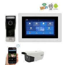 "WIFI 1.0MP 720P HD 7"" Video Intercom Door Phone Record IP Camera Remote Unlock"