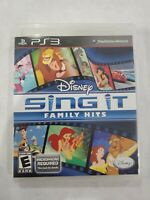 Disney Sing It Family Hits Sony Playstation 3, 2010 PS3 NO MIC Tested