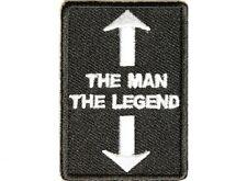 "(B10) THE MAN THE LEGEND 1.5"" x 2.25"" iron on patch (2901) Biker"