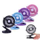 Mini Clip Fan Portable Rechargeable Battery USB Fan For Baby Stroller & Car