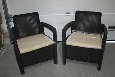 Allibert Gartenstühle Tarifa mit Auflagen (K1798)