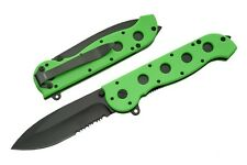 CRKT Style Avenger Zombie Green Tactical Spring Assisted 8 Inch Knife