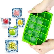 Silicone Brick Ice Cube Tray Molds Jelly Baking Square Moulds Ice Block 15 Frame