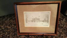 Don Swann Original Etching,Governor's Mansion Annapolis, Md A135/300
