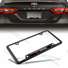 For 1PCS TOYOTA Black Stainless Steel Metal License Plate Frame New