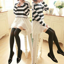 Women's Fake High Thigh Comfy Over Above Knee Pantyhose Tights Stockings Opaques